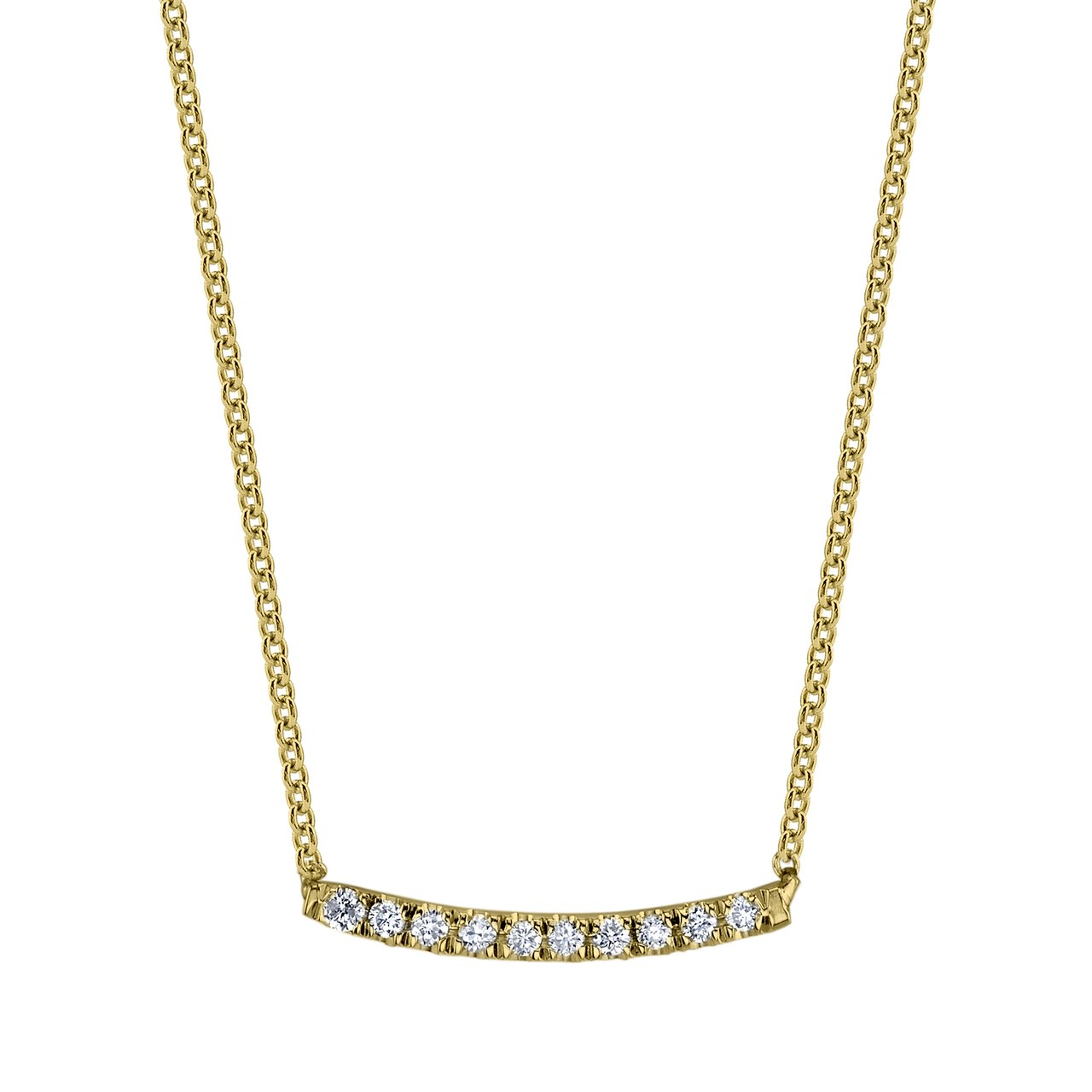Mini Axis Necklace With White Pavé Diamonds - Gabriela Artigas