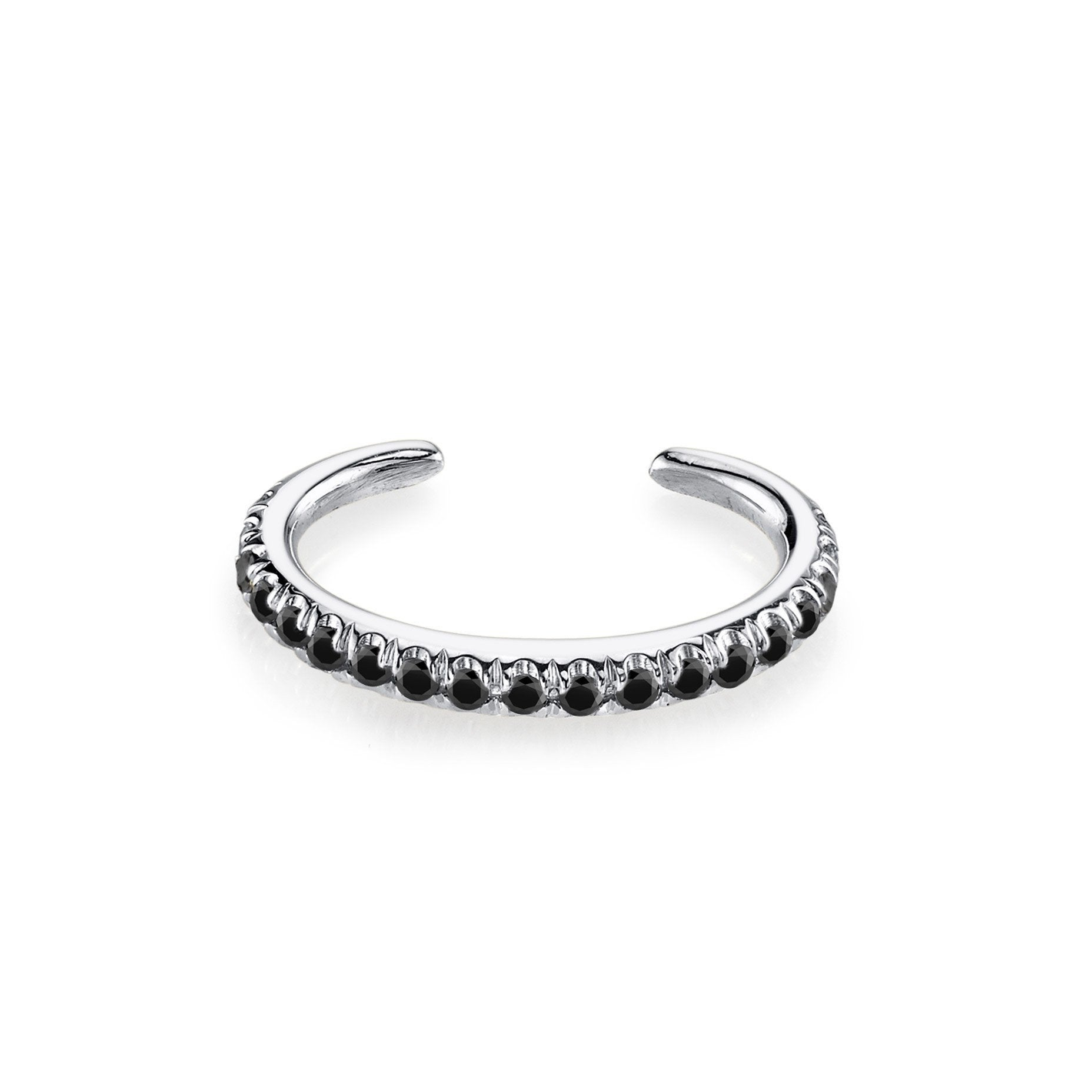 Reloaded Ear Cuff With Black Pavé Diamonds - Gabriela Artigas