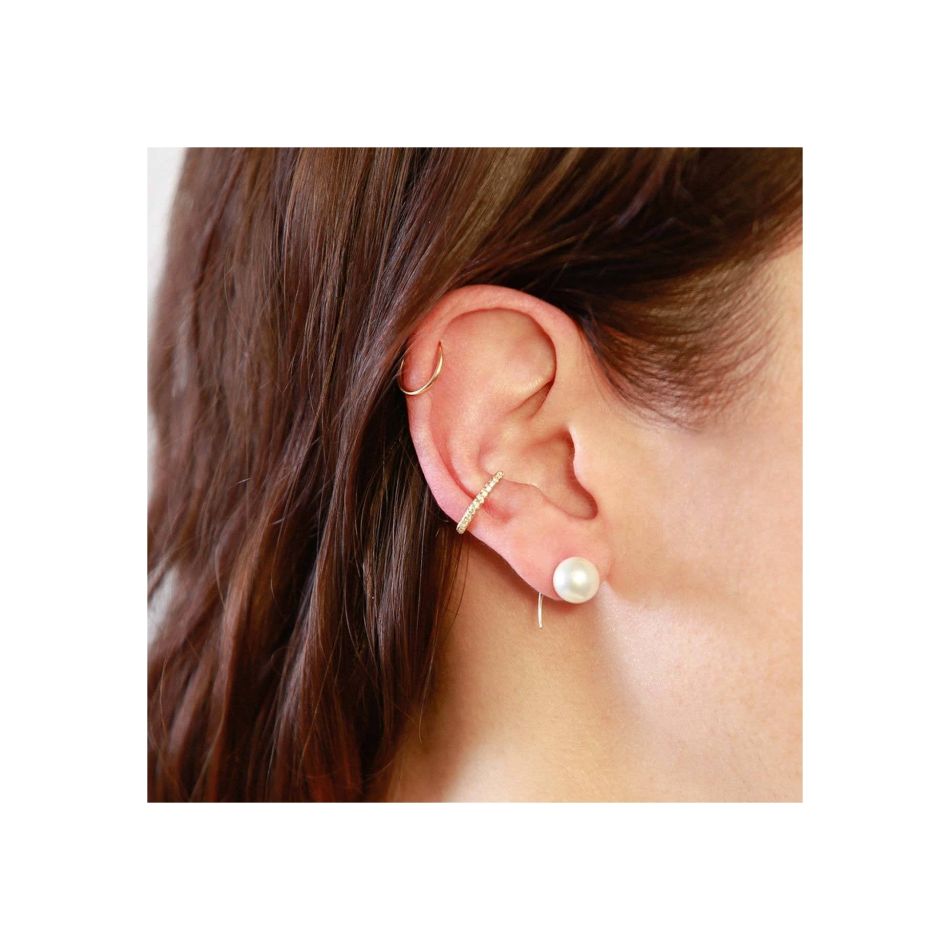 Reloaded Ear Cuff With White Pavé Diamonds - Gabriela Artigas