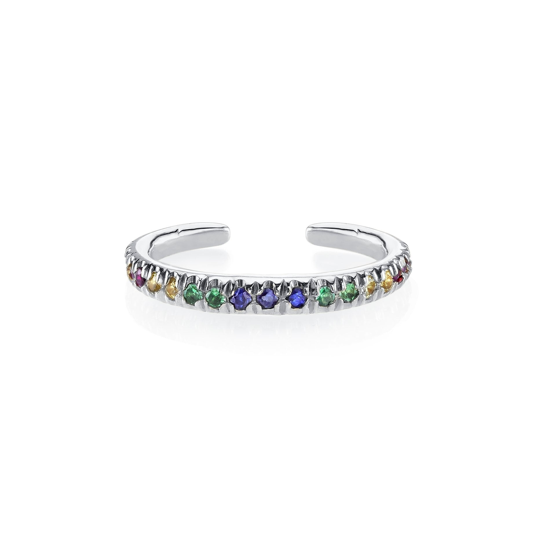 Gabriela Artigas Reloaded Ear Cuff with Rainbow Pave Stones (Single)