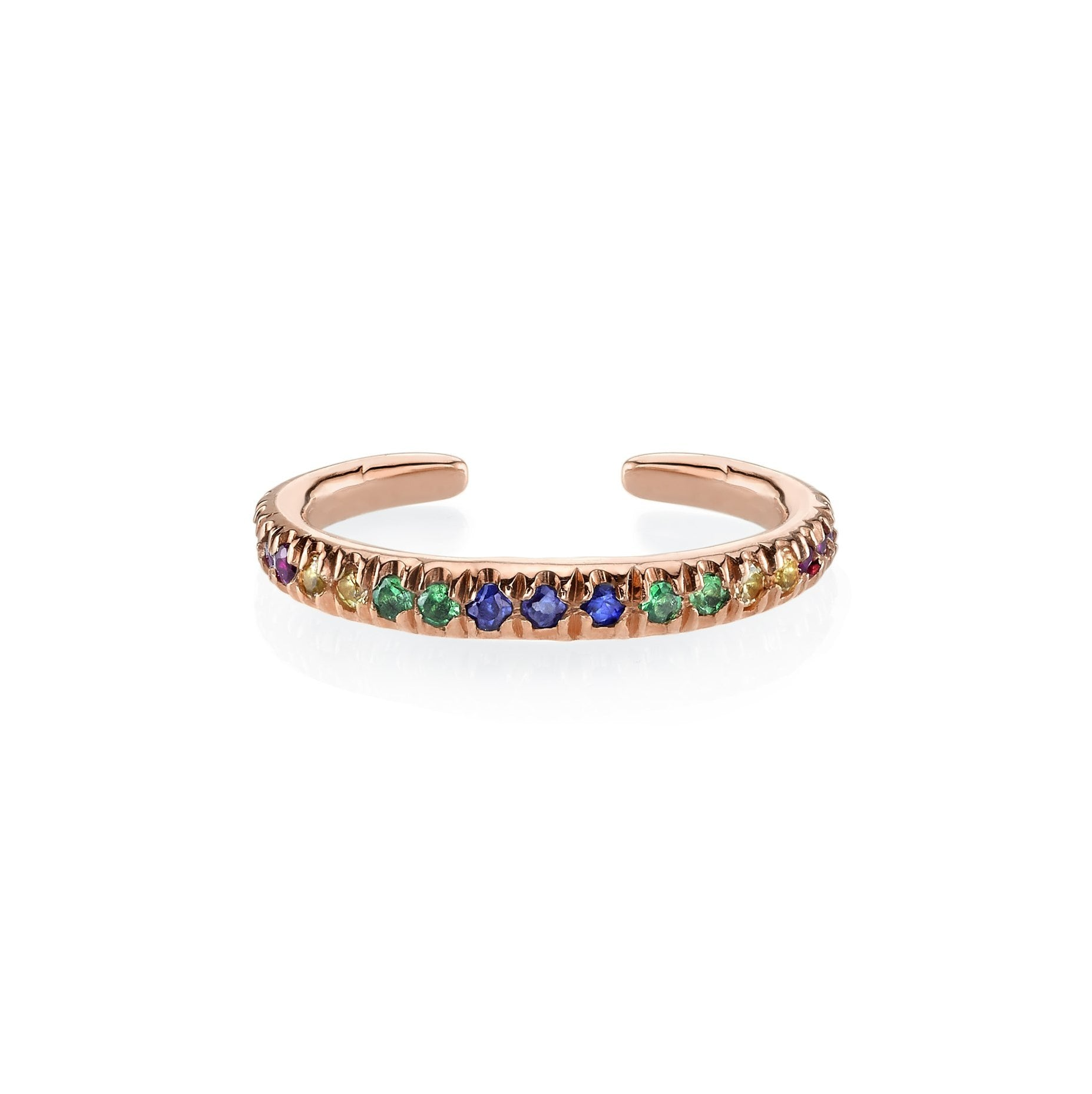 Reloaded Ear Cuff With Rainbow Pavé Stones - Gabriela Artigas