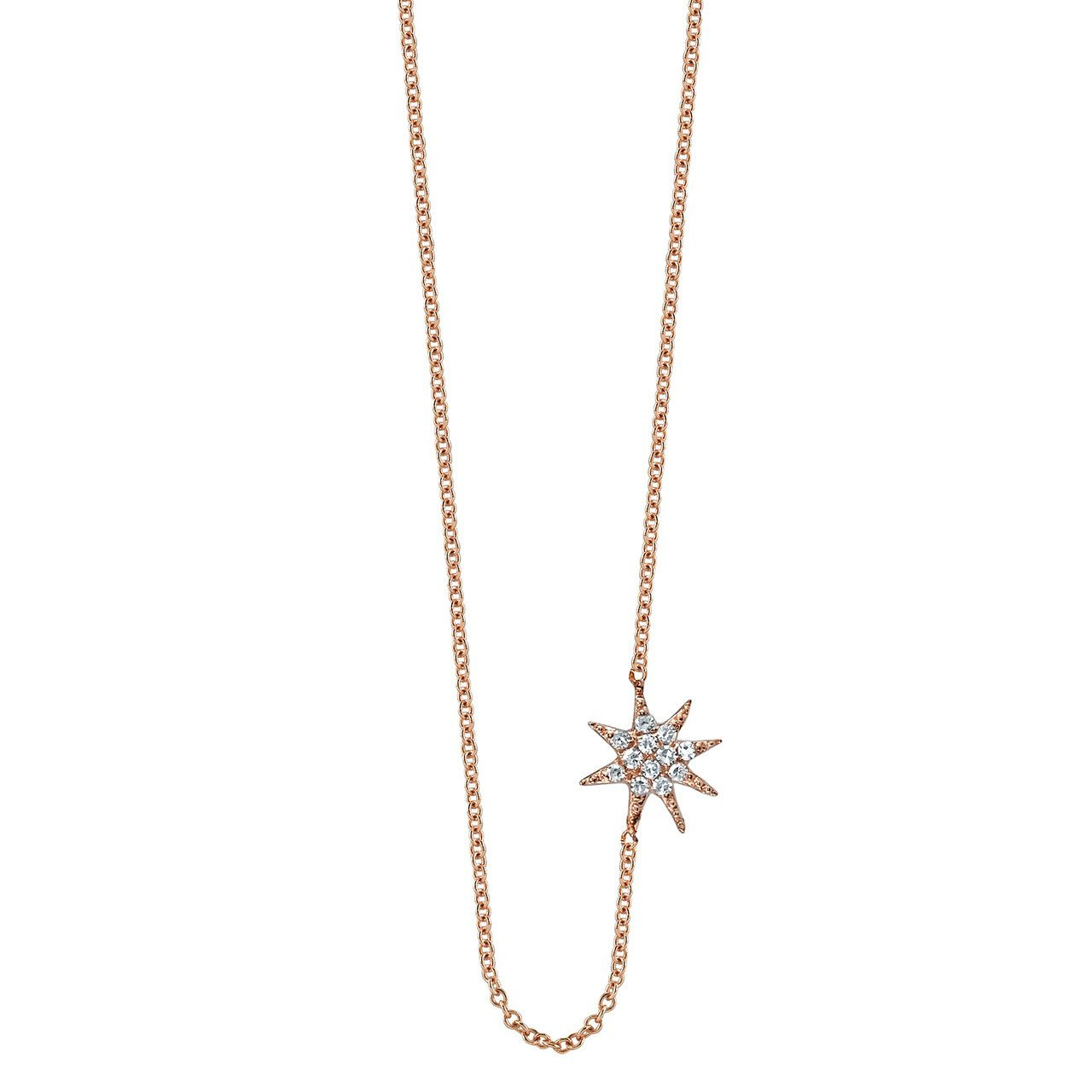 Gabriela Artigas Single Star Necklace with white Pavé