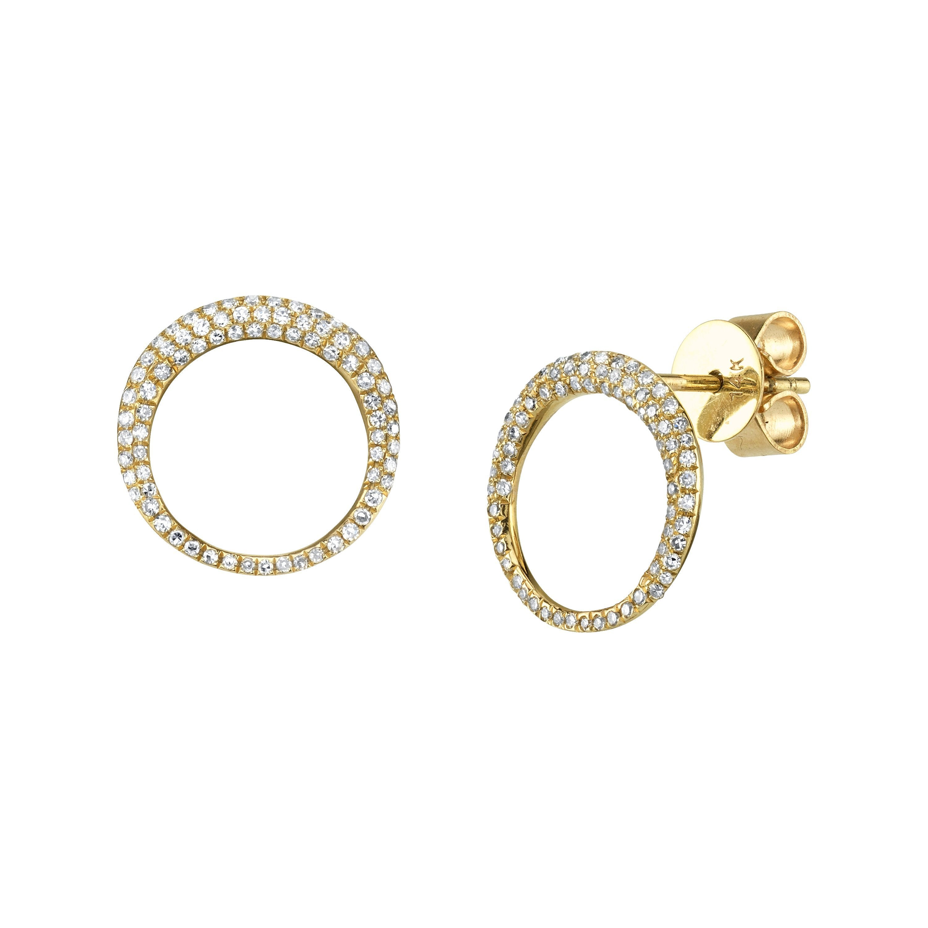 Small Balloon Earrings With White Pavé Diamonds - Gabriela Artigas