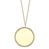 Small Disc Necklace With White Pavé Diamonds - Gabriela Artigas