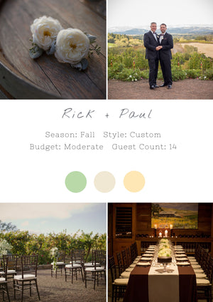 Rick + Paul - Healdsburg I Wedding
