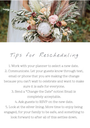 Five Tips for Rescheduling Your Wedding