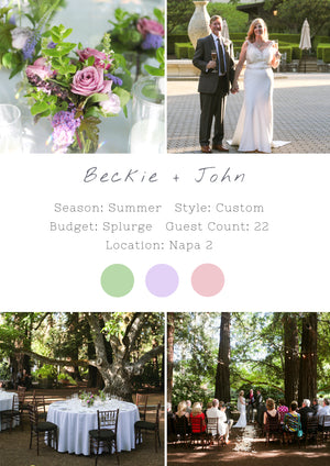 Beckie + John - Napa II Wedding