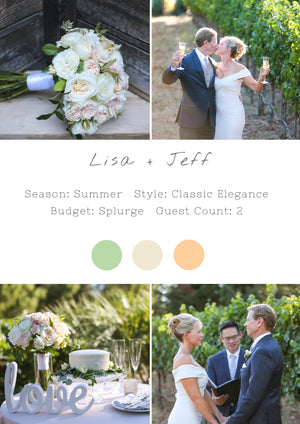 Lisa + Jeff - Napa Elopement