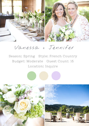 Vanessa + Jennifer - Napa Valley Wedding