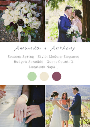 Amanda + Anthony - Napa 1 Elopement