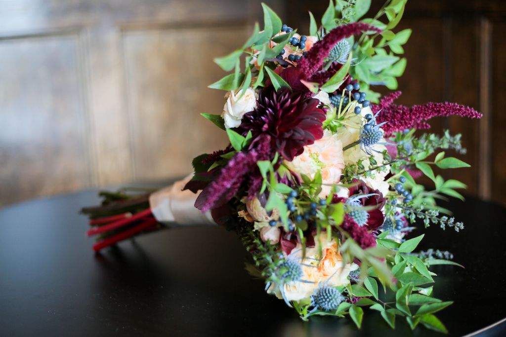 wine country wedding theme bouquet