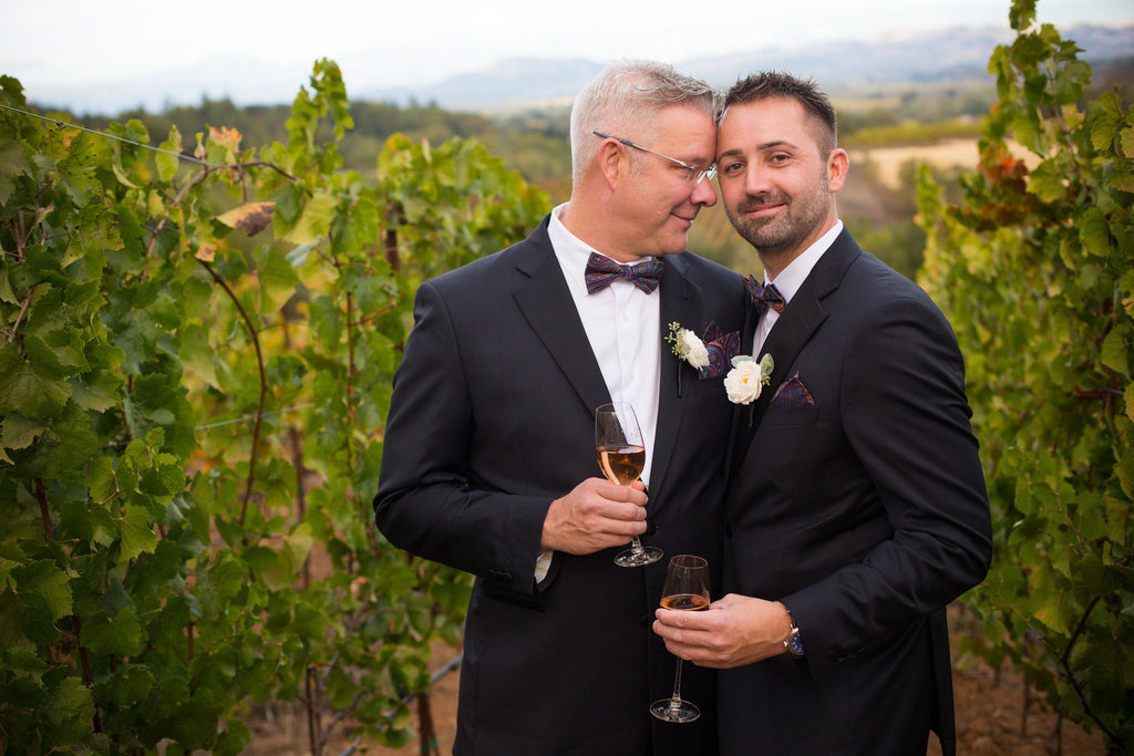 same sex couple eloping in napa valley