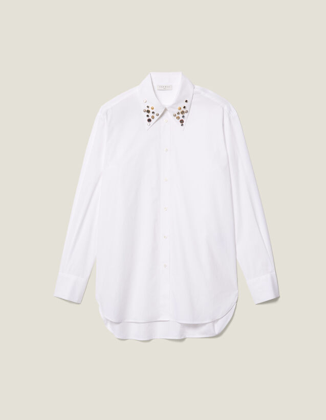 Sandro Anji Top White