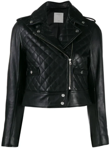 Sandro Ewan Leather Jacket Black