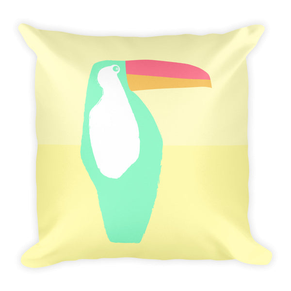 Island Toucan Square Pillow