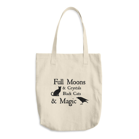 Black Magic Cotton Tote Bag