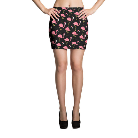Flamingo Chic Mini Skirt