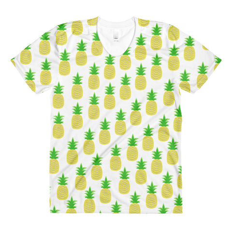 Perfectly Pineapple Sublimation women's crew neck t-shirt