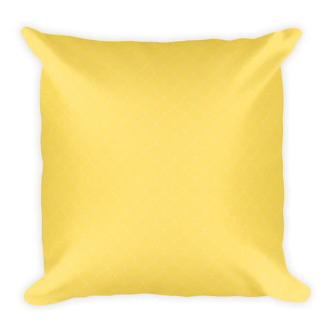 Sunshine Yellow Scales Square Pillow