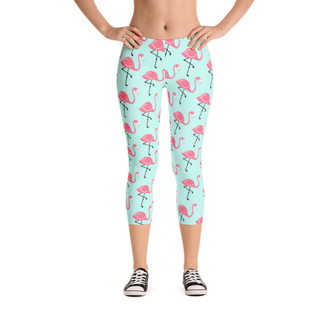 Flamingo Lagoon Capri Leggings