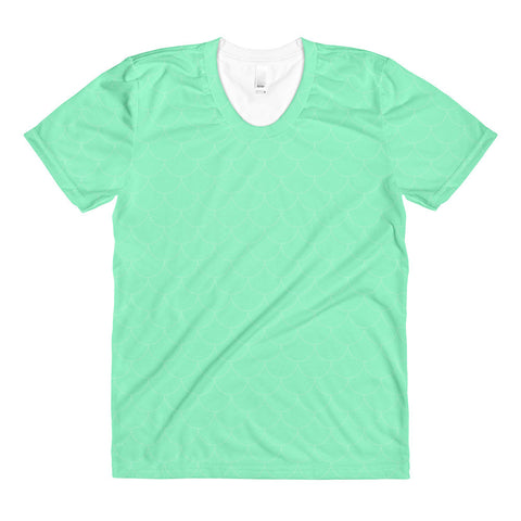 Sea Green Scales Sublimation women's crew neck t-shirt