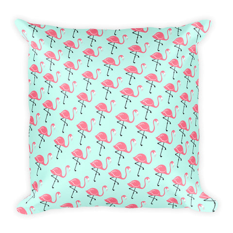 Flamingo Lagoon Square Pillow