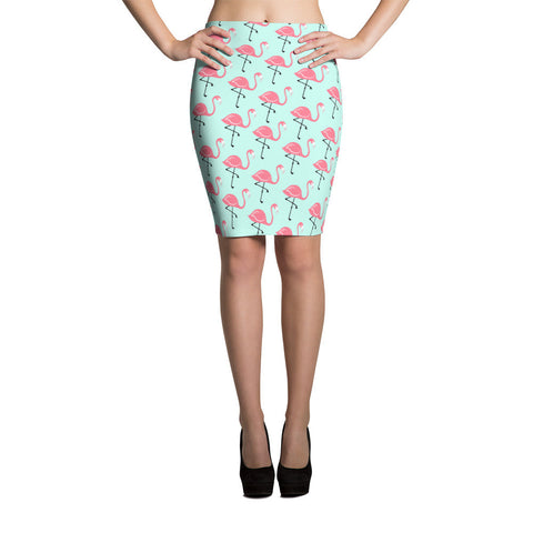 Flamingo Lagoon Pencil Skirt