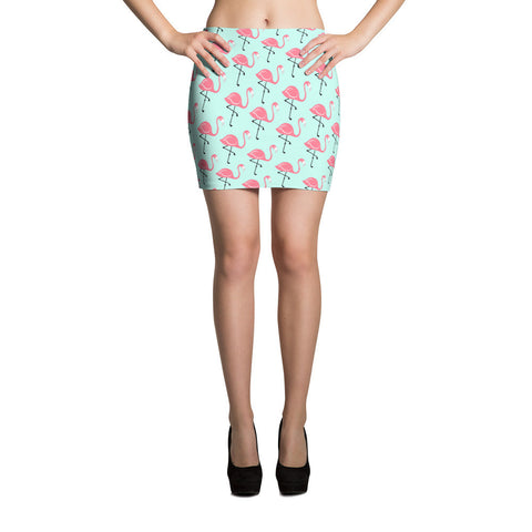 Flamingo Lagoon Mini Skirt