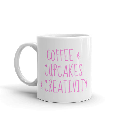 Coffee, Cupcakes, & Creativity Mug