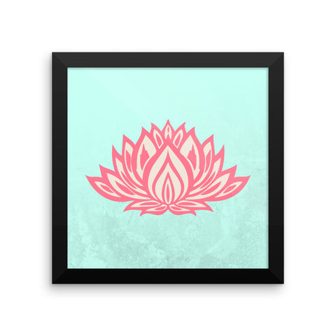 Lotus Framed poster