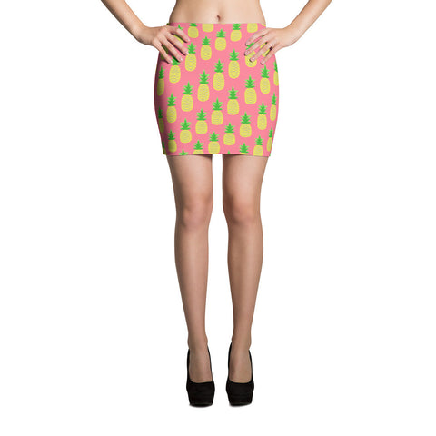 Tropical Pineapple Mini Skirt
