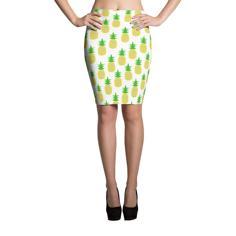 Perfectly Pineapple Pencil Skirt