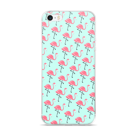 Flamingo Lagoon iPhone 5/5s/Se, 6/6s, 6/6s Plus Case