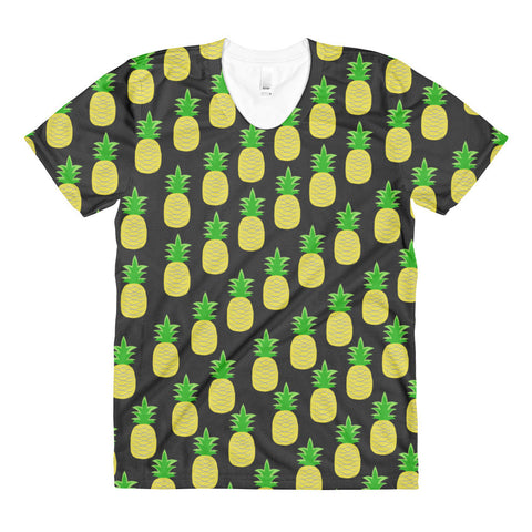 Pineapple Perfection Sublimation women's crew neck t-shirt