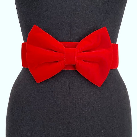Big Velvet Bow Belt | 2 Colors