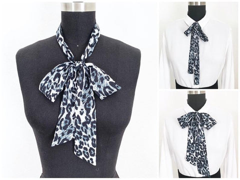 Animal Print Bow Scarves | 2 Styles