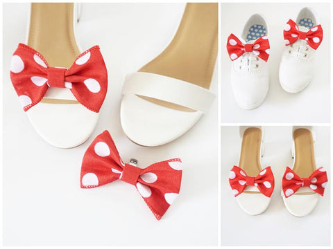 Mini Minnie Bow Shoe Clips