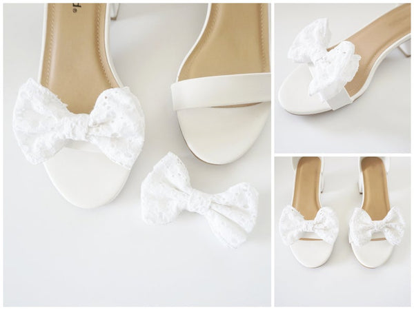 Mini Eyelet Bow Shoe Clips