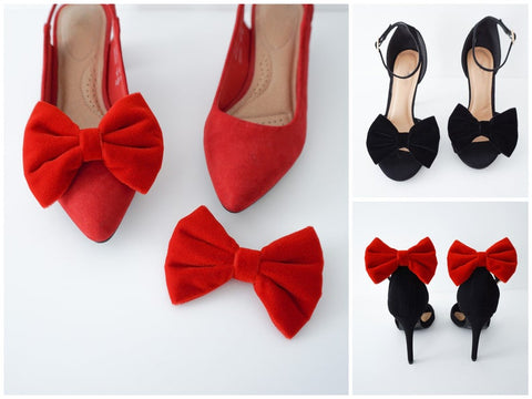 Velvet Bow Shoe Clips | 5 Colors