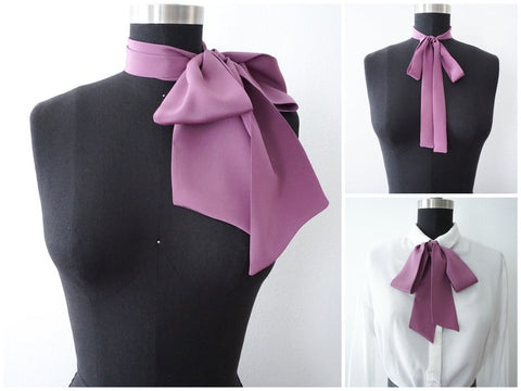 Silk Crepe Bow Scarf | 3 Styles