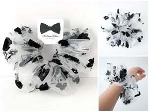 Floral Tulle Scrunchies