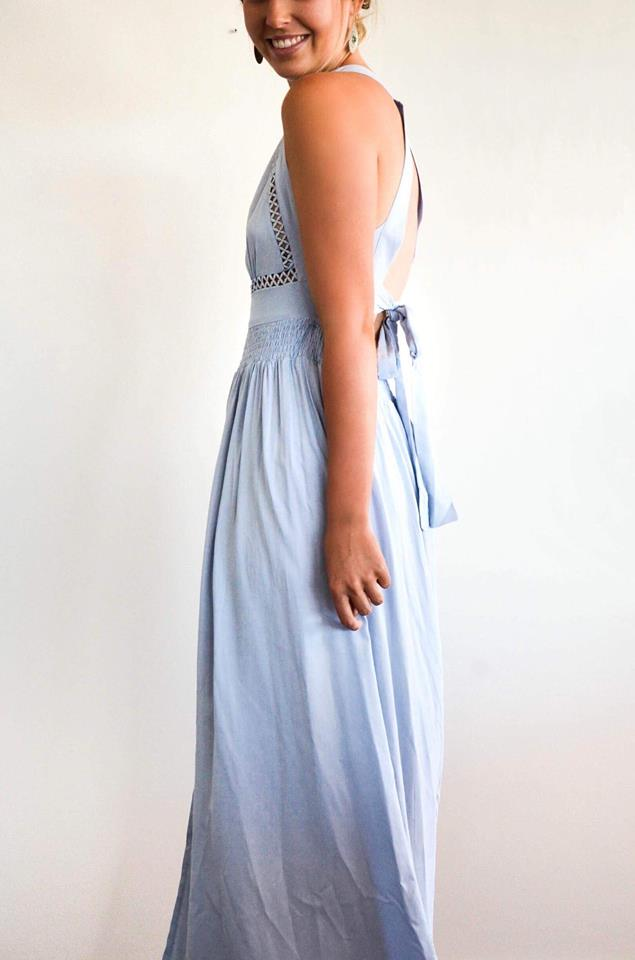 Tie back maxi dress