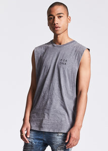 Fade To The Black Step Hem Muscle Tee