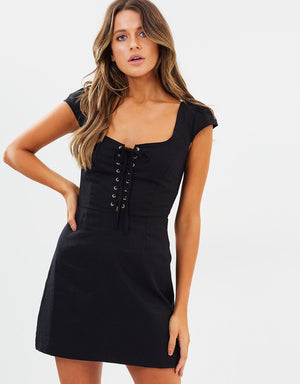 Monrose Eyelet Mini Dress