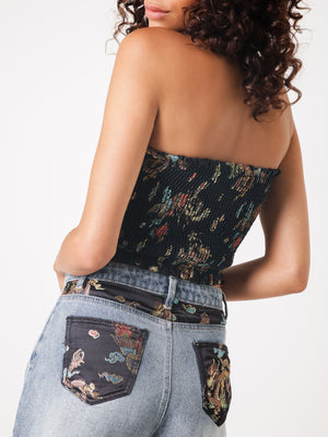 China Doll Denim Shorts