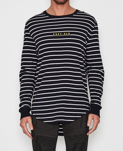 Waves Long Sleeve Curved Hem Tee
