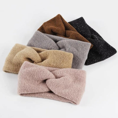 Mommy & Me Wool Knit Headbands - Set of 3 pairs