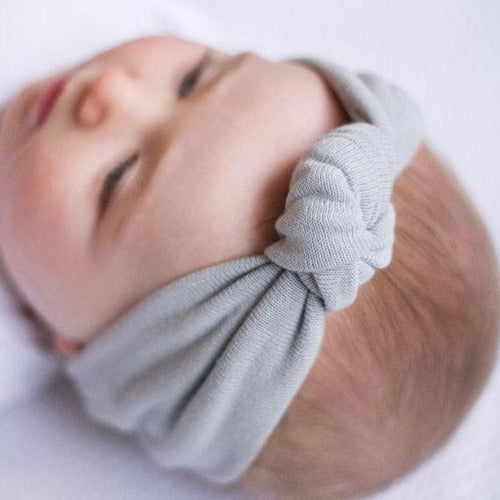 Baby Elastic Bowknot Hairband/Turban - Kids Wholesale Boutique Clothing,  - Girls Dresses, Yo Baby Wholesale - Yo Baby