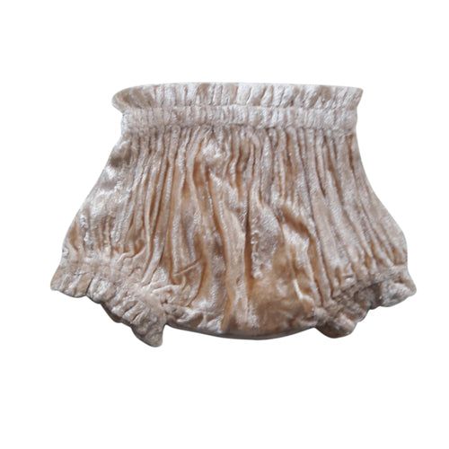 Blush Shorts-Style Velvet Diaper Cover