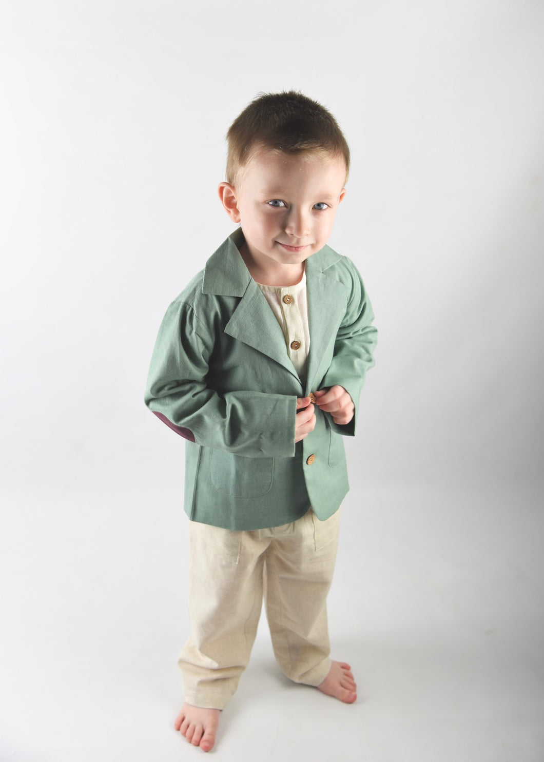 Boys Blazer & Pants Set - Pistachio/Ivory - Kids Wholesale Boutique Clothing, Boys - Girls Dresses, Yo Baby Wholesale - Yo Baby